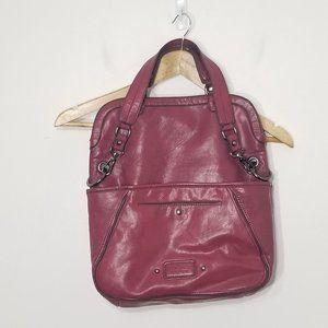 Nine West   Pink Faux Leather Satchel Handbag